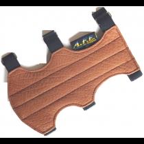 TLE Armschutz Glattleder braun geschlossen. breit LA13