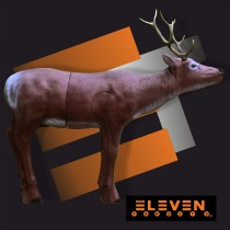 Eleven Elk with Insert and horns E45 3D Target